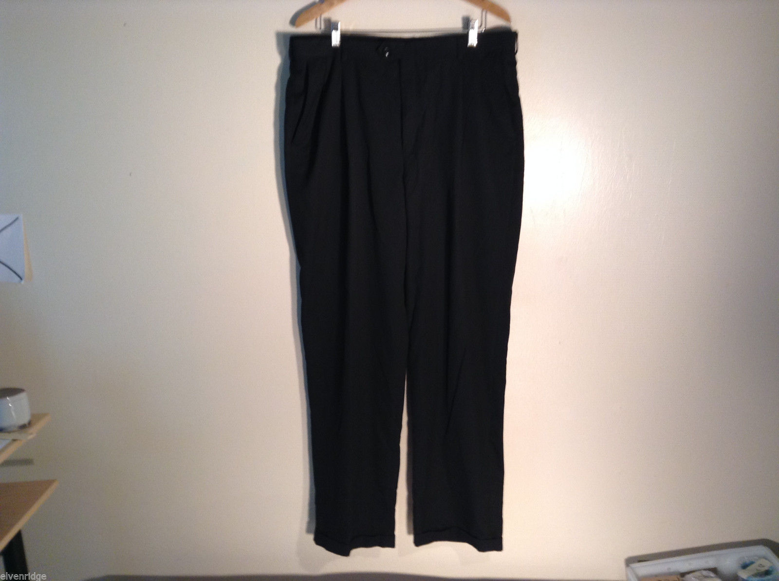 Mens Haggar Dress Pants 38 x 34 polyester blend excellent