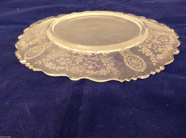 """Vintage Clear Glass Plate with Fostoria Floral Design 8-1/4"""" diam. image 5"""