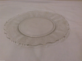 """Vintage Clear Glass Plate with Fostoria Floral Design 8-1/4"""" diam. image 6"""