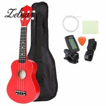 "21"" Red Soprano Ukulele Uke Hawaii Bass Guitar Guitarra with Tuner Strin... - $39.58"