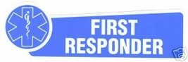 First Responder Ems - Silver With A Blue Star Of Life - Emt Paramedic Decal - $1.49