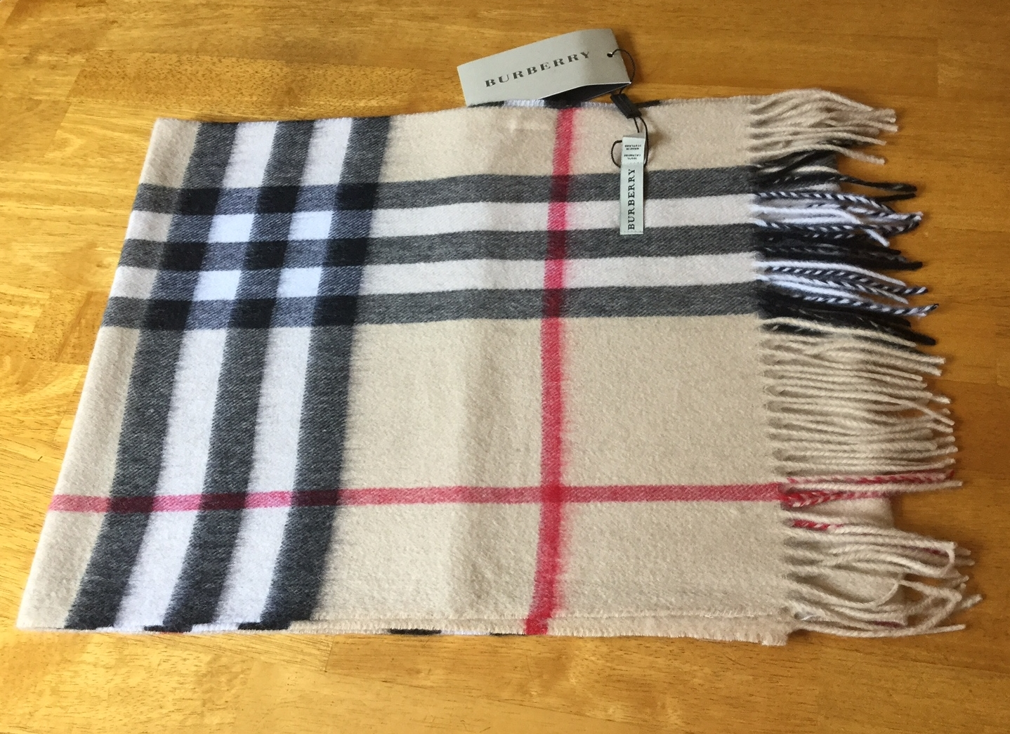 burberry scarf check camel beige large check