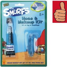 Smurfs - Blue Nose & Makeup Kit - Blue Cream Tube Makeup - Water Washable - $2.85