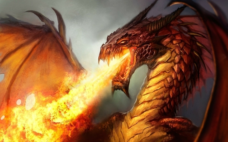 Haunted Elemental Dragon Impulsion Dragon of Fire Incredible of Power & Might