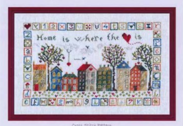 Home Is Where The Heart Is cross stitch chart The Pink Needle - $9.00