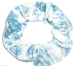 Floral Hair Scrunchie Blue Roses  Scrunchies by Sherry Flowers - $6.99