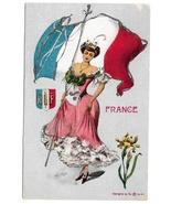 G Howard Hilder World Countries Series France Platinachrome Lady w Flag ... - $14.99