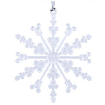 NEW Disney Parks - Snowflake with Mickey Ear Icons Ornament - Clear - Ch... - $19.79