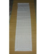 White Eyelet Lace Runner - $10.00