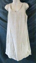 J Crew Dress 8 Sleeveless Solid Beige - $14.26