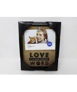 """Mainstays Love is a Four Legged Word Burlap 4"""" x 6"""" Photo Frame - New - $14.99"""