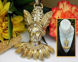 Vintage Lucien Piccard Pendant Maharajah Sultan Indian Turban Figural - $225.00