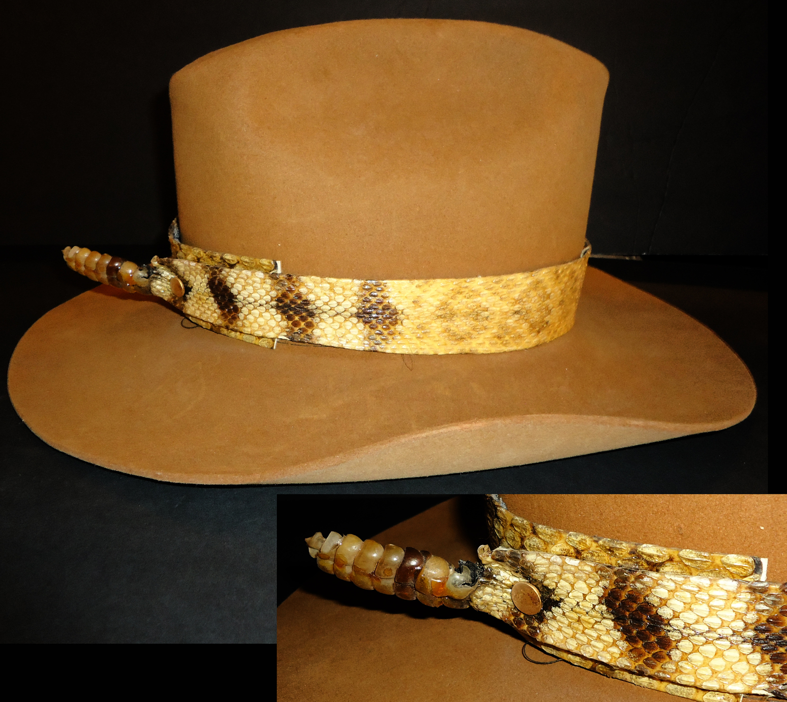 Rattlesnake hat Resistol cowboy diamond back and 50 similar items a8e76298071