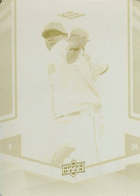 Primary image for 2008 ud felix hernandez seattle mariners printing plate 1/1 rare baseball card