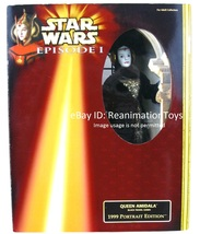 "Star Wars Queen Padme Amidala Black Travel Gown 12"" Doll Portrait Editio... - $34.99"