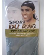Brand New, Grey Sport Du Rag Tie Down Cap, Style 4769A - $2.95
