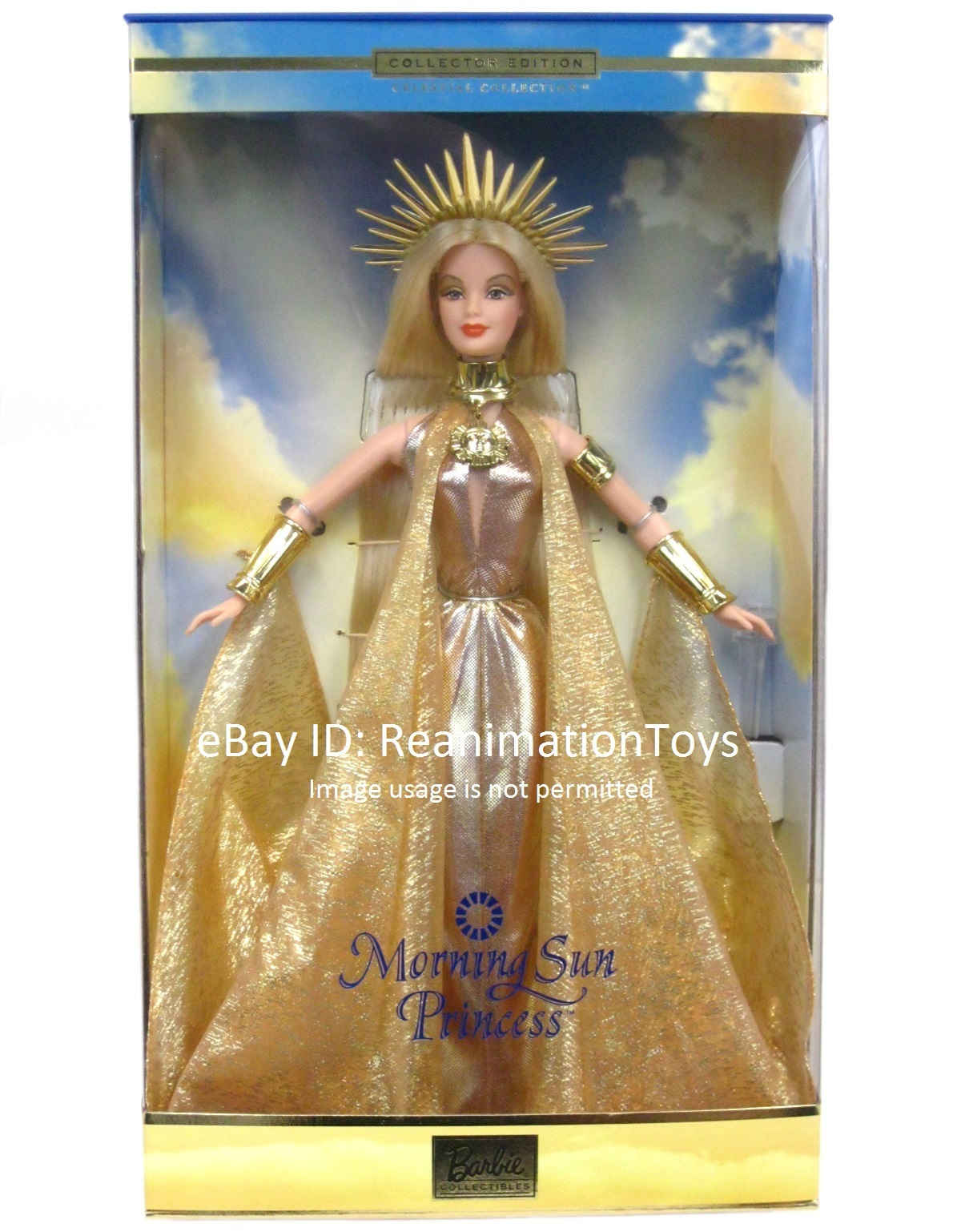 DRESS BARBIE DOLL MORNING SUN PRINCESS GOLDEN EVENING GOWN CLOTHING ACCESSORY