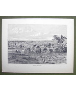 AUSTRALIA View of Melbourne - 1858 Engraving An... - $12.38