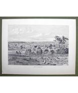 AUSTRALIA View of Melbourne - 1858 Engraving Antique Print - $12.38