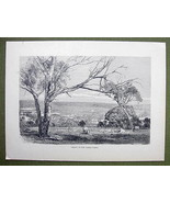 AUSTRALIA Valey of Yarra Yarra River - 1858 Ant... - $12.38