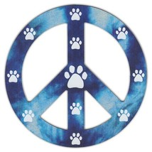 Peace Sign Shaped Magnets (See Through): Blue D... - $6.99