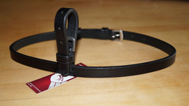 """Bobby's Tack Leather 1/2"""" x 25.5"""" FULL Sz Buckle On Flash Strap- BLACK - $20.00"""