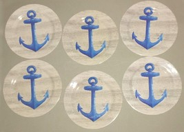 "Melamine ANCHOR Plates YOU CHOOSE NEW 8"" OR 10"" sets Beach House NEW - $27.76+"