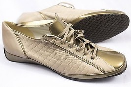 Amalfi By Rangoni Elima Gold Cream Patent Leather Sneakers  Size 8.5 S - $68.50