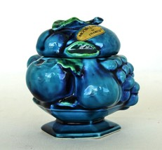 Vintage Inarco Blue Mood Indigo Sugar Bowl with Lid - $12.00