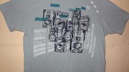 Aero NYC 1987 Speakers Music Graphic T-Shirt Size Medium Blue - $21.04