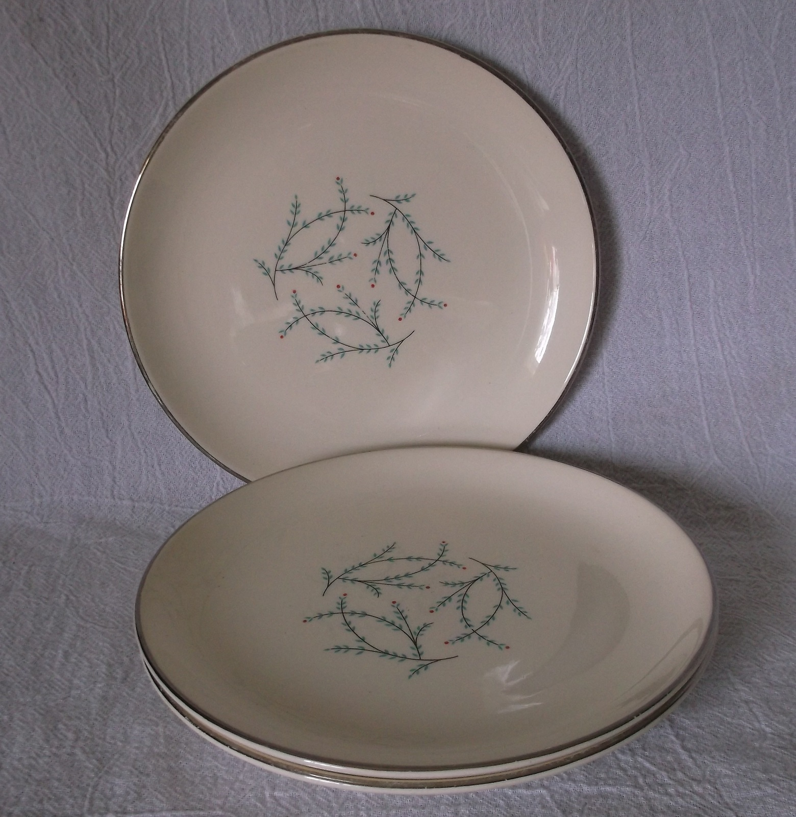 Tst blue twig bread and butter plates all3 & Taylor Smith Taylor BLUE TWIG Plates Vintage and 50 similar items