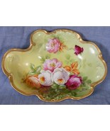 Limoges dresser tray Jean Pouyat Victorian roses hand painted Duval 1890... - $79.99