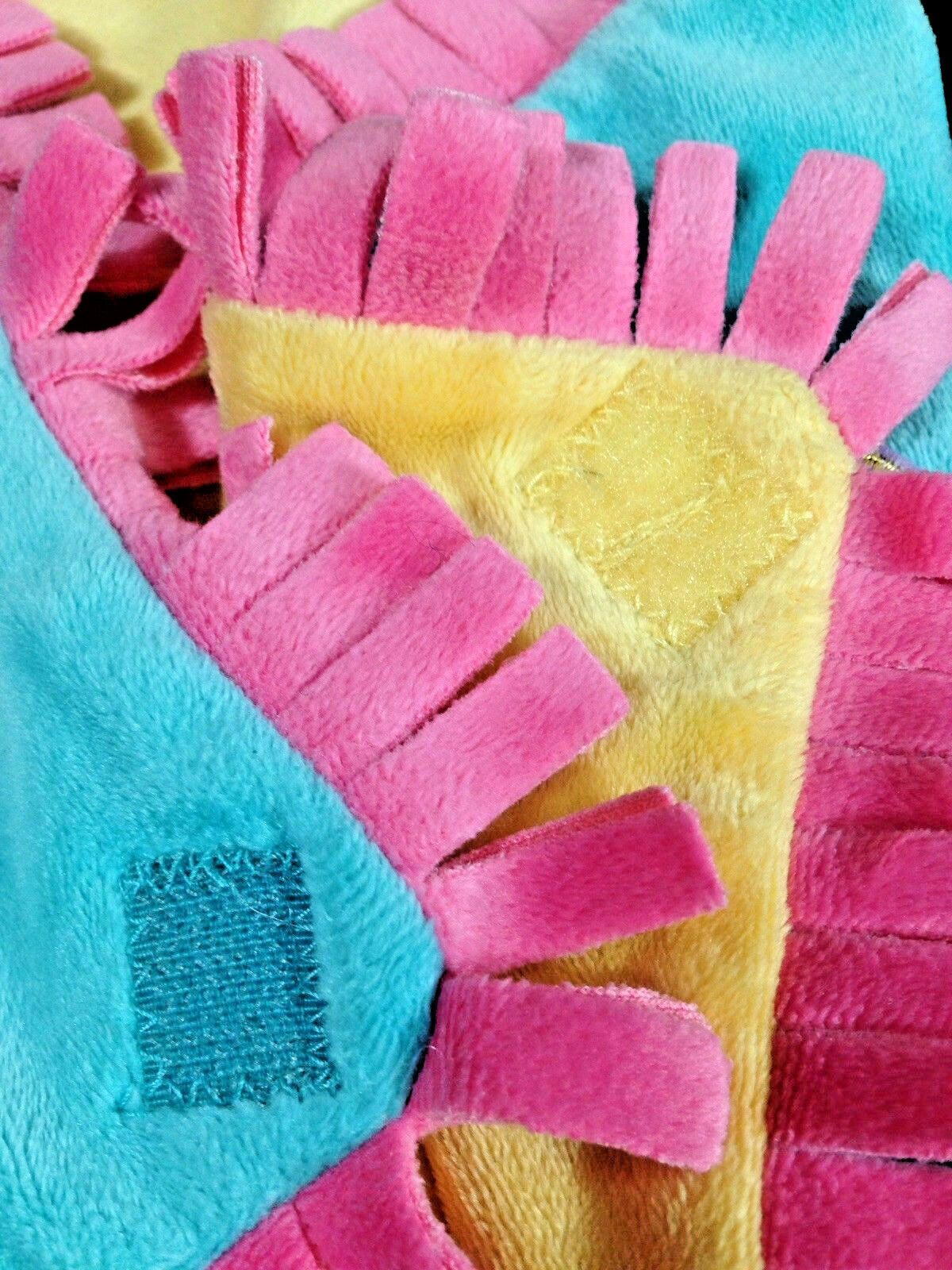 Disneyland Disney Babies Blanket for Dumbo Plush Blue Pink Yellow Fringe Wrap image 5