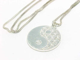 "YIN and YANG Sterling Silver PENDANT and 18"" Italian Sterling NECKLACE - $40.00"