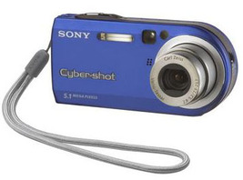 Sony Cyber-shot DSC-P100 5.1MP Digital Camera Silver