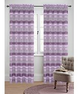 Urbanest 54-inch by 63-inch Becca Set of 2 Sheer Curtain Panels, Lilac