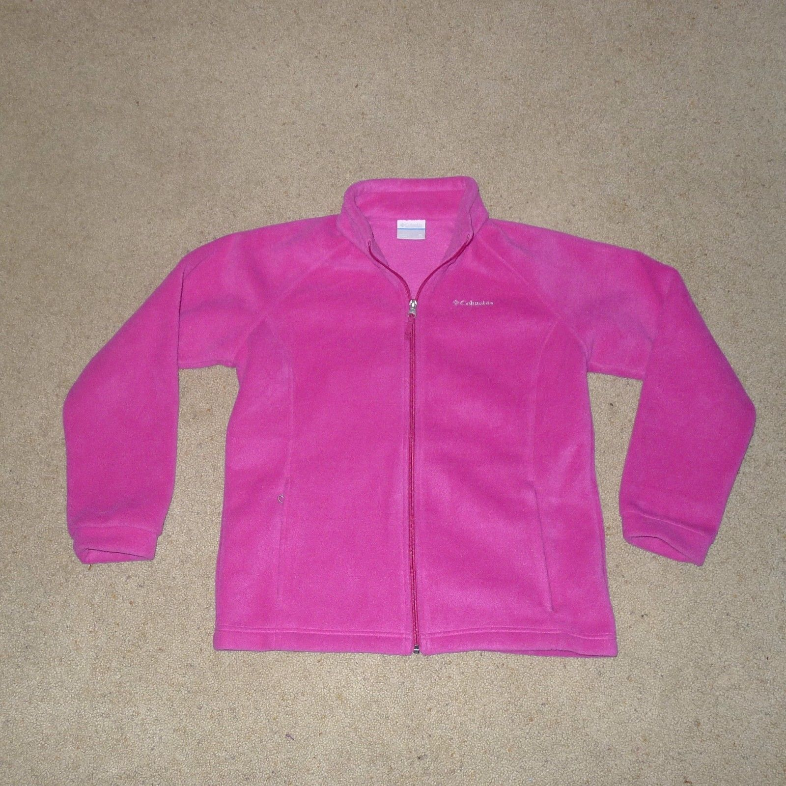 Columbia, Fleece Full Zip Up Jacket, Pink, Youth XL (18-20)
