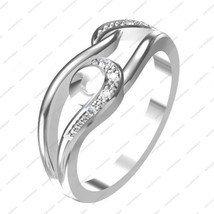 Round Cut CZ White Gold Plated 925 Sterling Silver Ravishing Ring For Women's - £11.97 GBP