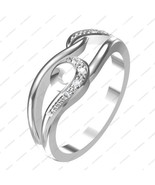 Round Cut CZ White Gold Plated 925 Sterling Silver Ravishing Ring For Wo... - £11.90 GBP