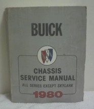 Buick  Chassis   Service   Manual  1980 - $11.61