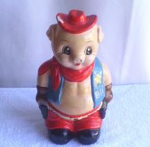 CERAMIC  PORKY  PIG   PIGGY   BANK  /  USED - $22.20