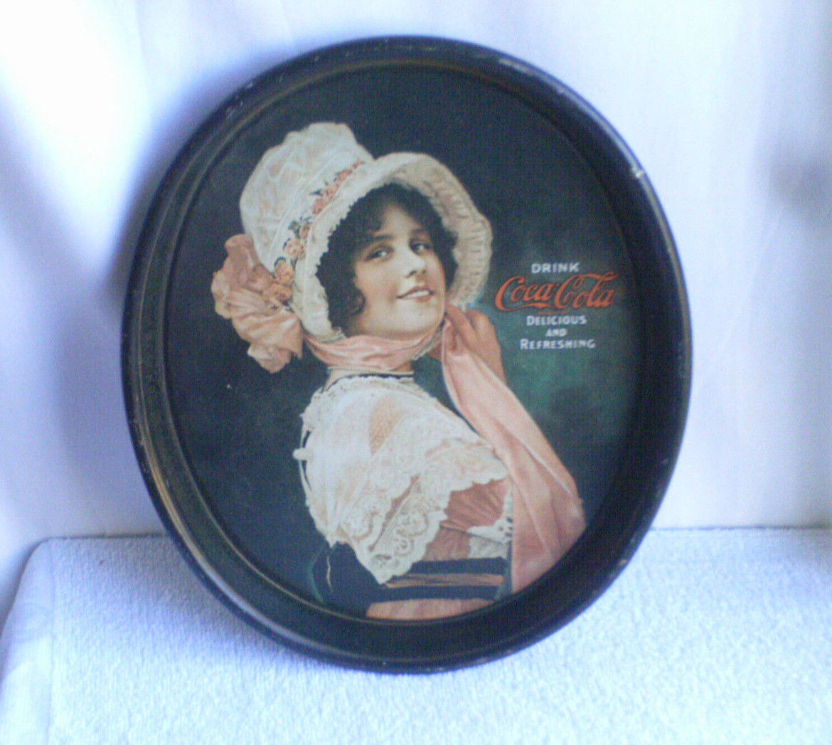 Primary image for VINTAGE  COCA - COLA  METAL TRAY  / USED