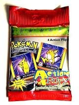 Pokemon Action Flipz Premier Edition 4 Cards 1999 Sealed Pack Nintendo A... - $1.98