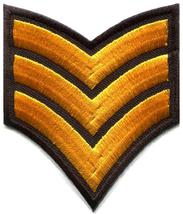 Army navy military insignia rank war biker retro applique iron-on patch ... - $2.98
