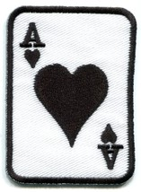Ace of Hearts playing cards retro biker rat pack applique iron-on patch new S-11 - $2.98
