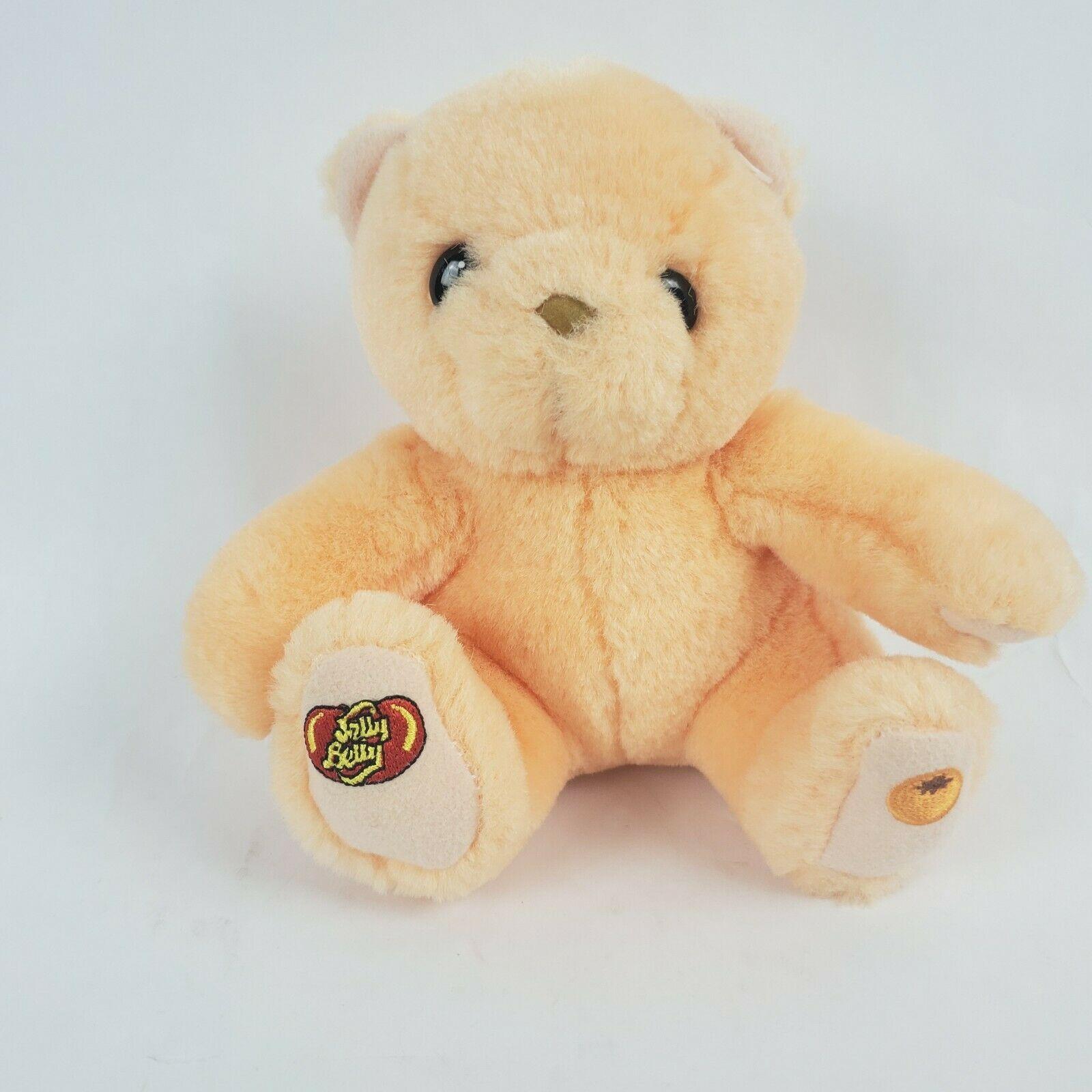 "Jelly Belly Orange Bear 6"" Plush Teddy Stuffed Animal Hermen Goelitz Enesco"