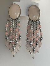 Vintage Dangle Multi Strands Clip On Earrings - $16.45