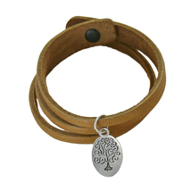 Life Tree Inspirational Leather Charm Bracelet - IN4314 - $14.99