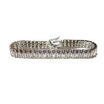 23 Ctw Princess Cut Cubic Zirconia 46 Station Dome Shape Tennis Bracelet  Bridal - $98.01