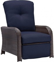 Hanover Outdoor Strathmere Luxury Recliner, Navy Blue - $510.52
